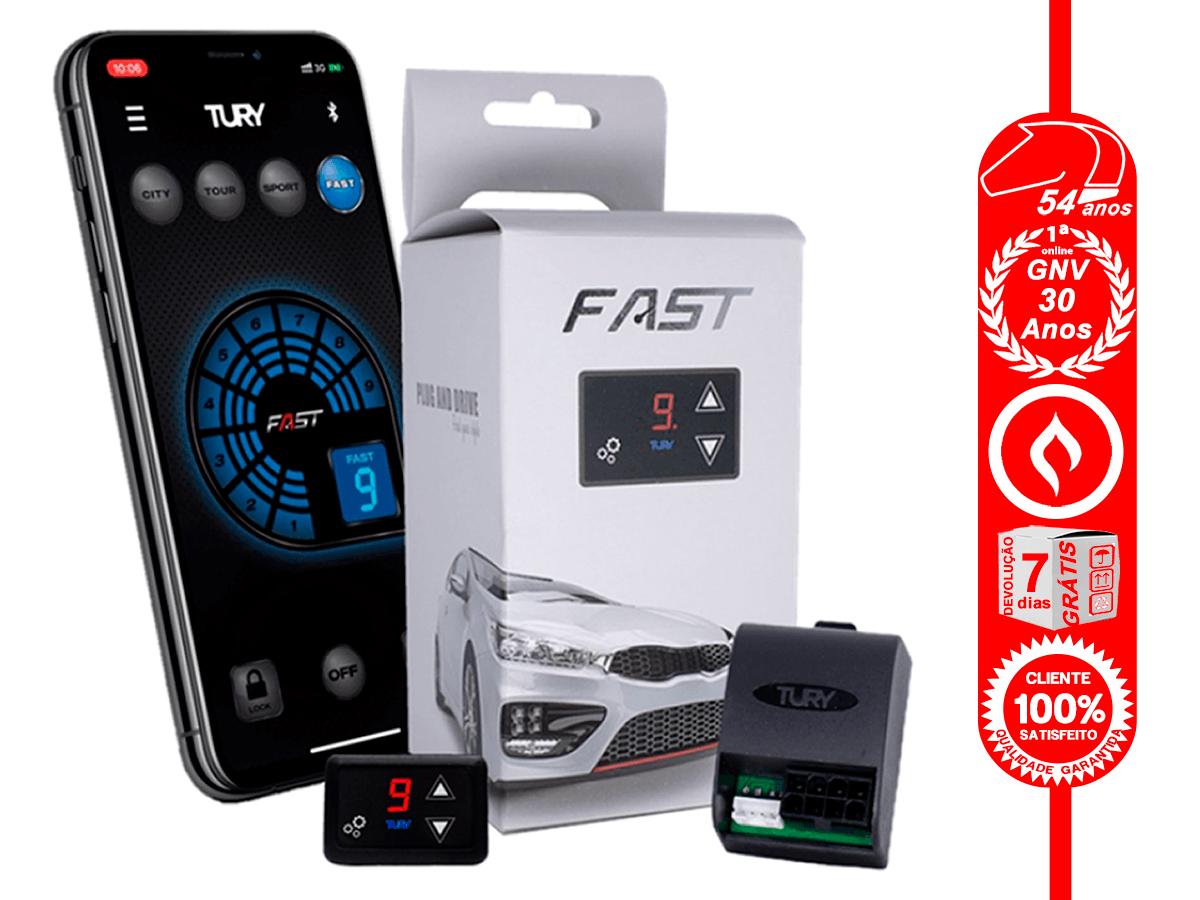 Fast 2.0 B Módulo Acelerador Bluetooth GM Fiat Jeep Nissan Plug & Play