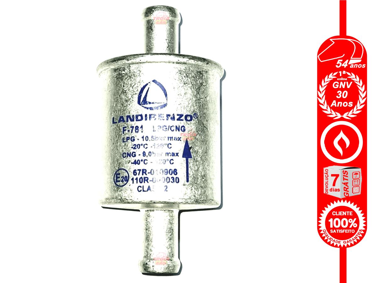 Filtro GNV 14 mm Landi Renzo 5ª e 6ª Geração protege Bicos e MAP
