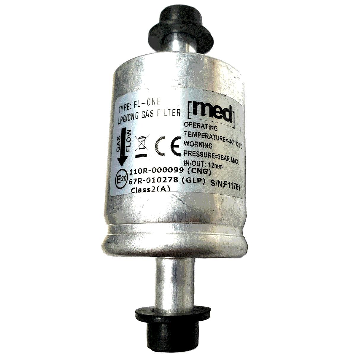 Filtro MED 12mm para GNV 5ª e 6ª Geração protege Bicos