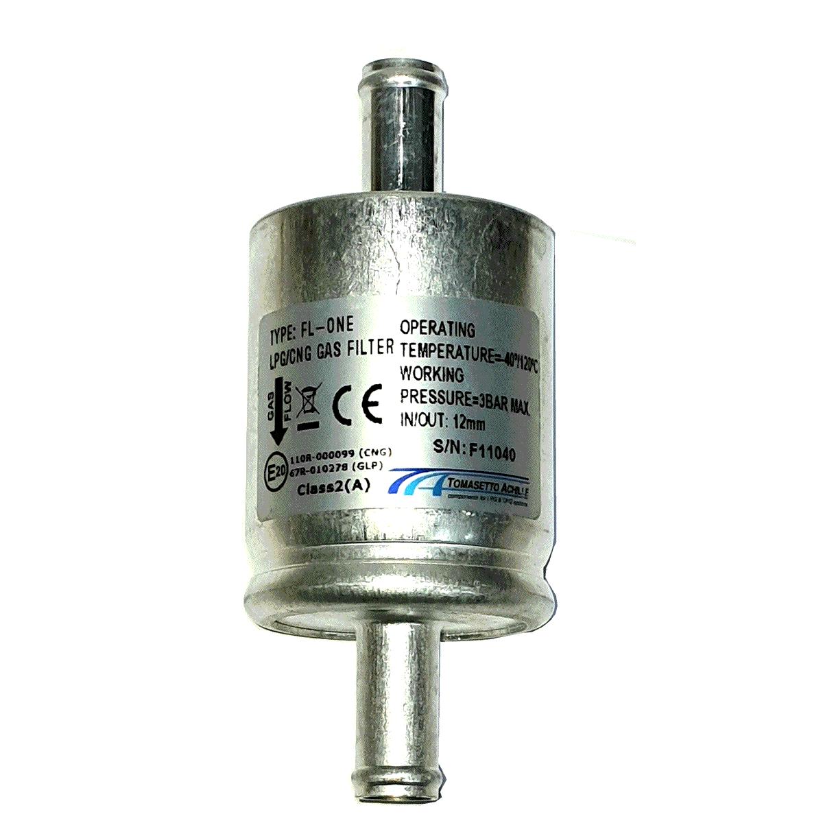 Filtro TA Tomasetto 12mm para GNV 5ª e 6ª Geração protege Bicos