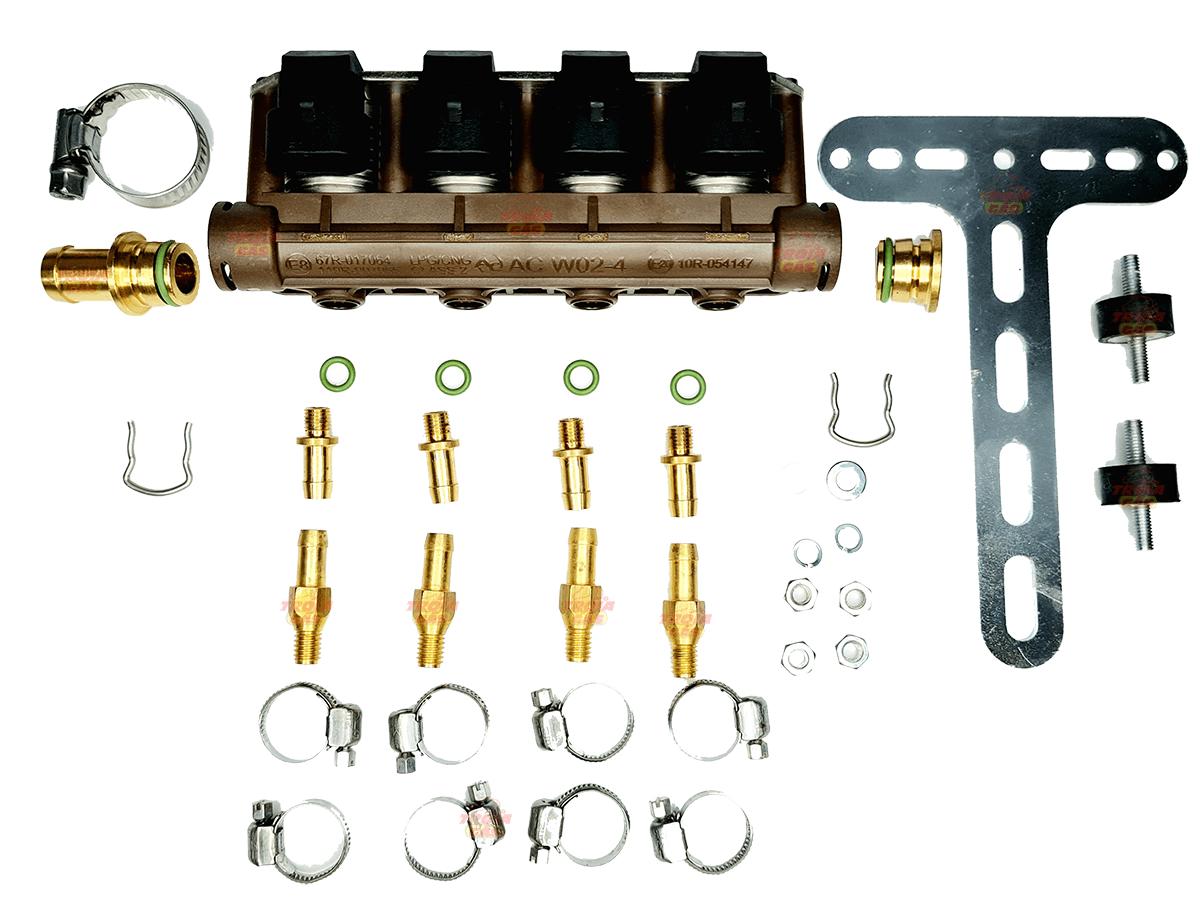Flauta 4 Bicos GNV 5ª geração Rampa STAG AC W02-4 TURY GAS