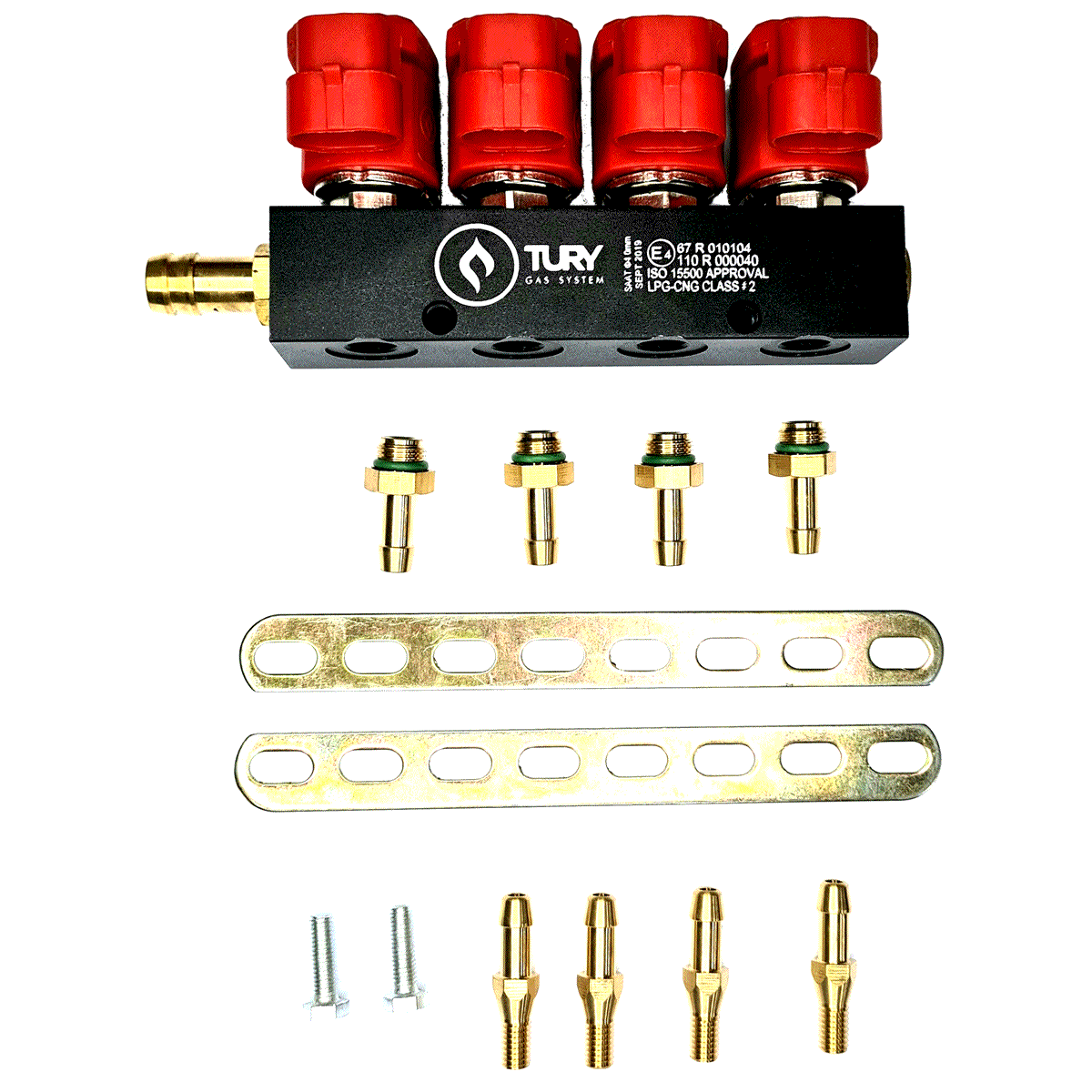 Flauta 4 Bicos GNV 5ª geração Rampa TURY STAG VALTEK GAS
