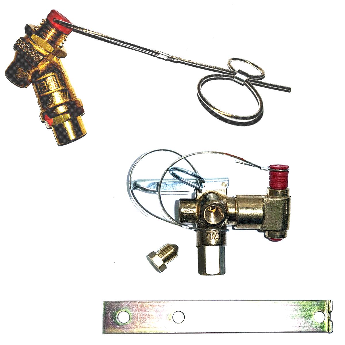Kit 2 Válvulas ITA Abastecimento e Abastecimento Externo