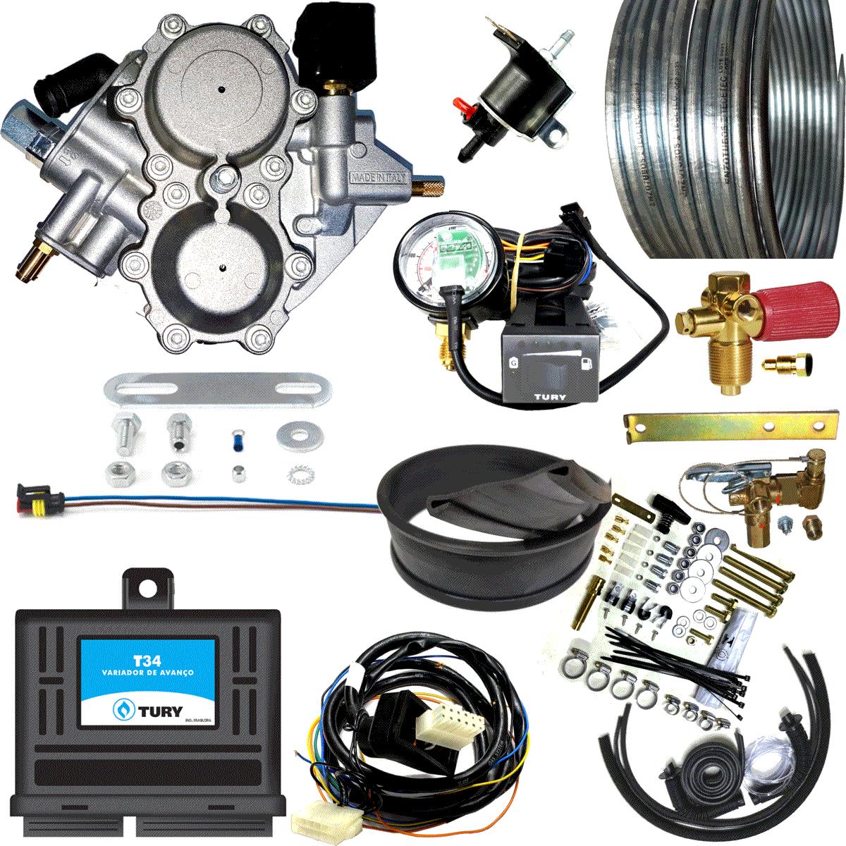 Kit 2ª Geração GNV Carburado Lovato Super Variador 2 Válvulas Minuterias