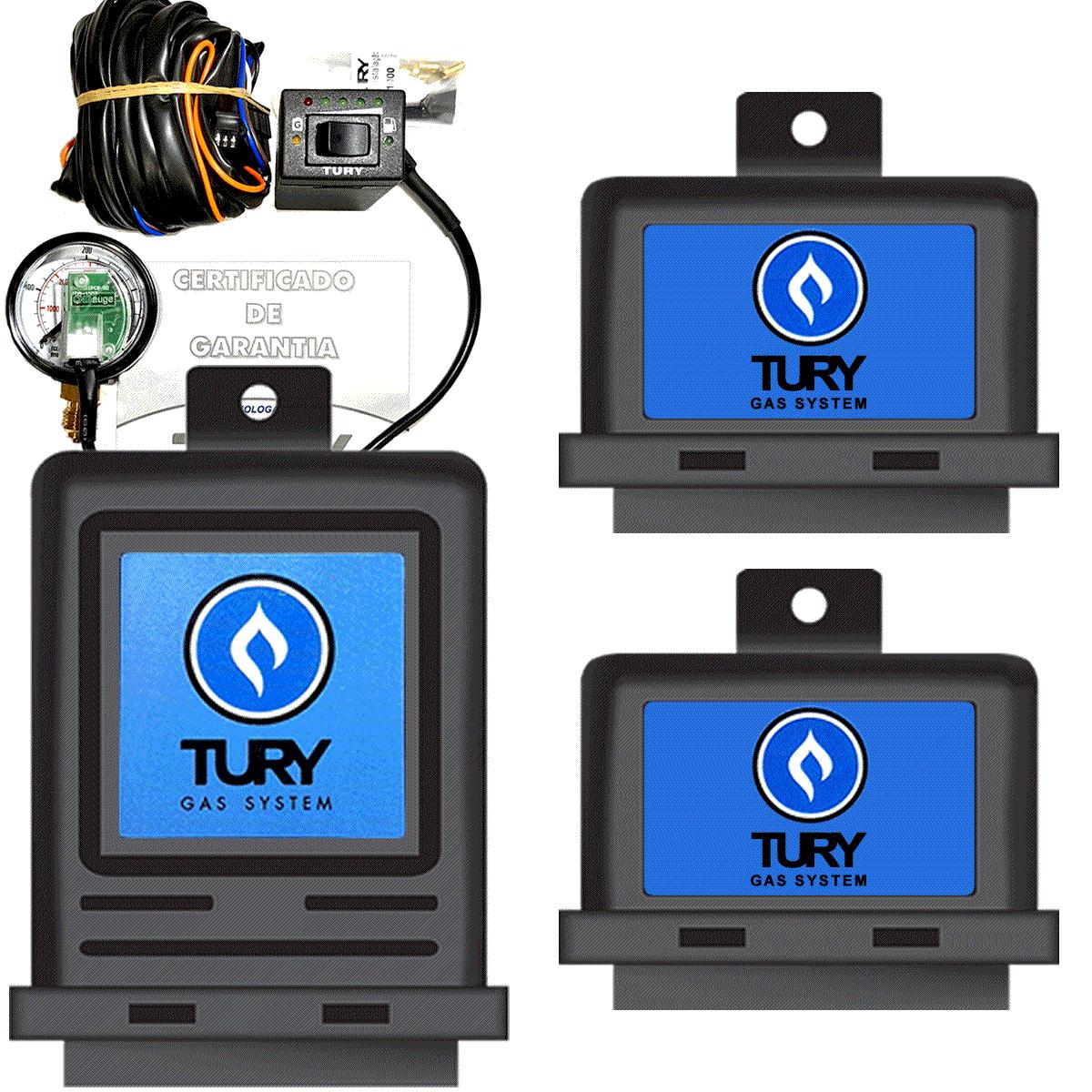Kit 3ª Geração GNV 4  cil. LOVATO Variador + 2 Válvulas + Minuterias