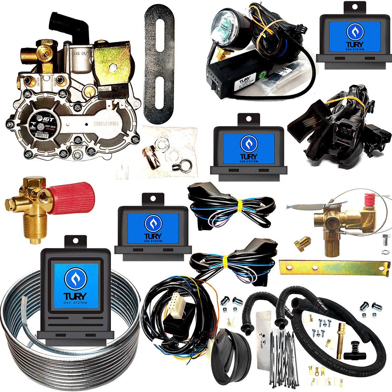 Kit 3ª Geração GNV 6 Cilindros IGT Super Variador TURY Válvulas ITA Minuterias