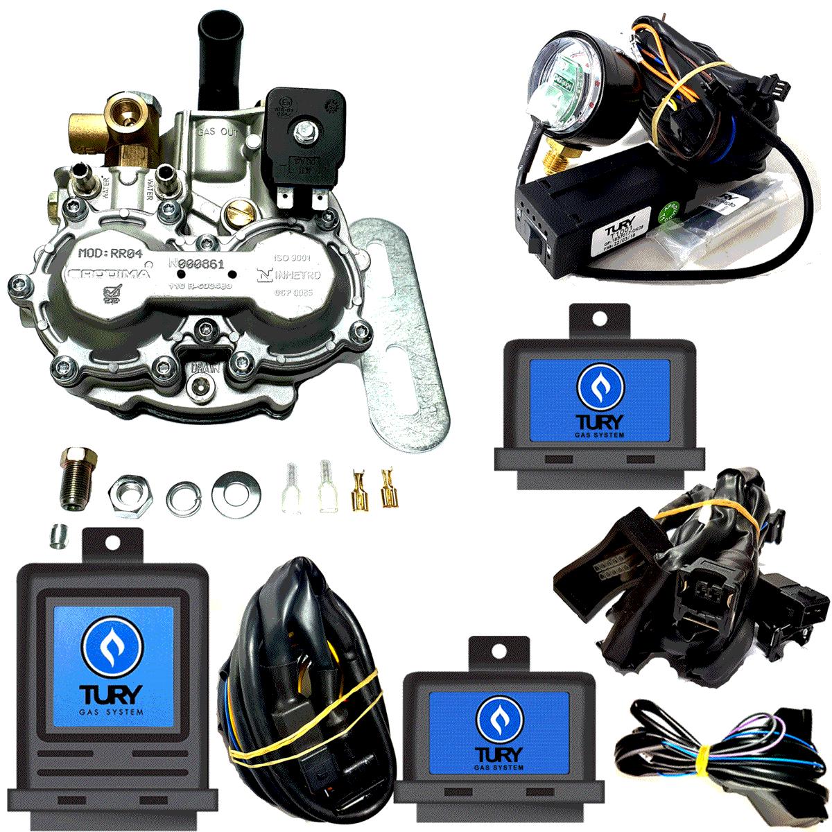 Kit 3ª geração Redutor Rodima e Eletrônicos 1 combustível líquido