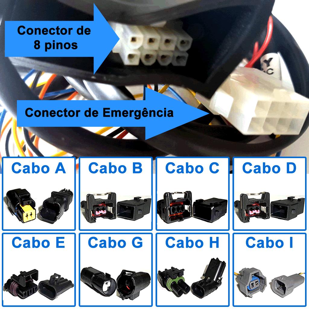 Kit 5ª Geração GNV 4  cil. Tomasetto Variador + 2 Válvulas + Minuterias