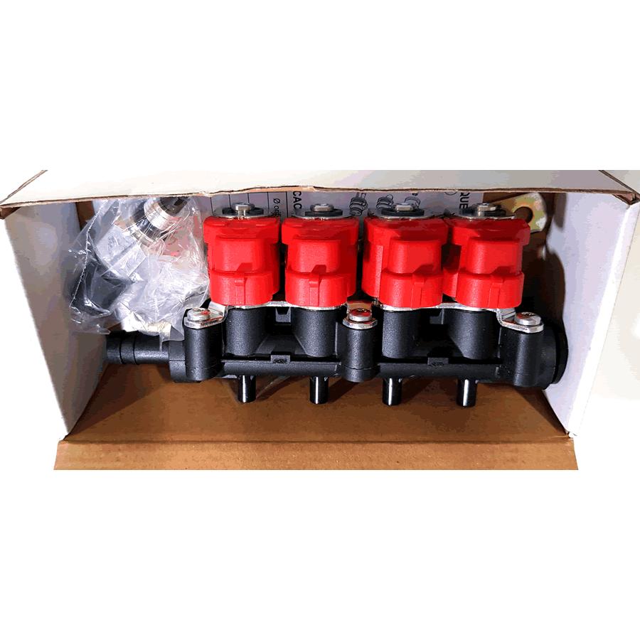 Kit 5ª Geração GNV Tomasetto 4 cilindros + 2 Válvulas + Minuterias