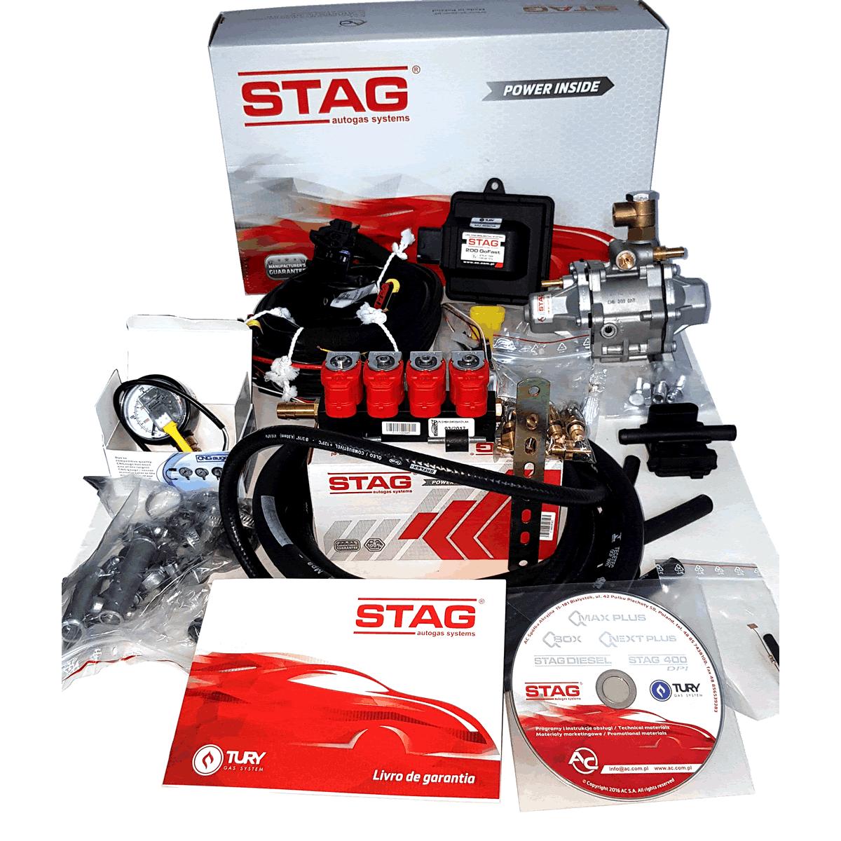 Kit 5ª Geração STAG 200 GosFast 4 TURY GAS