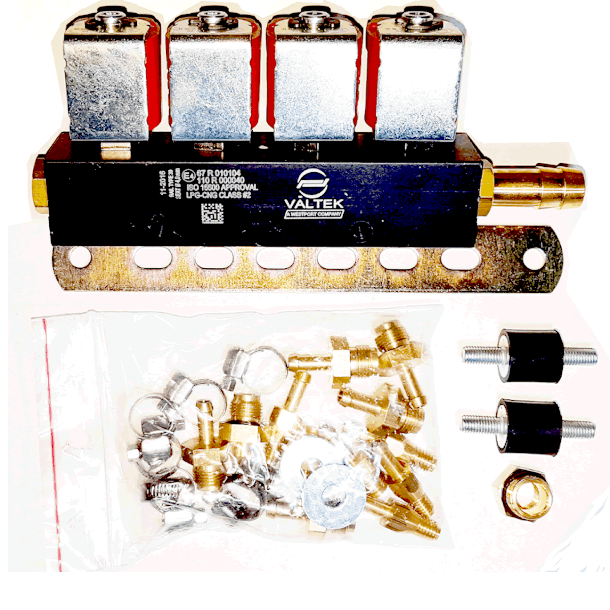 Kit 5ª Geração STAG 200 GosFast 4 TURY GAS + Variador + 2 Válvulas e Minuterias