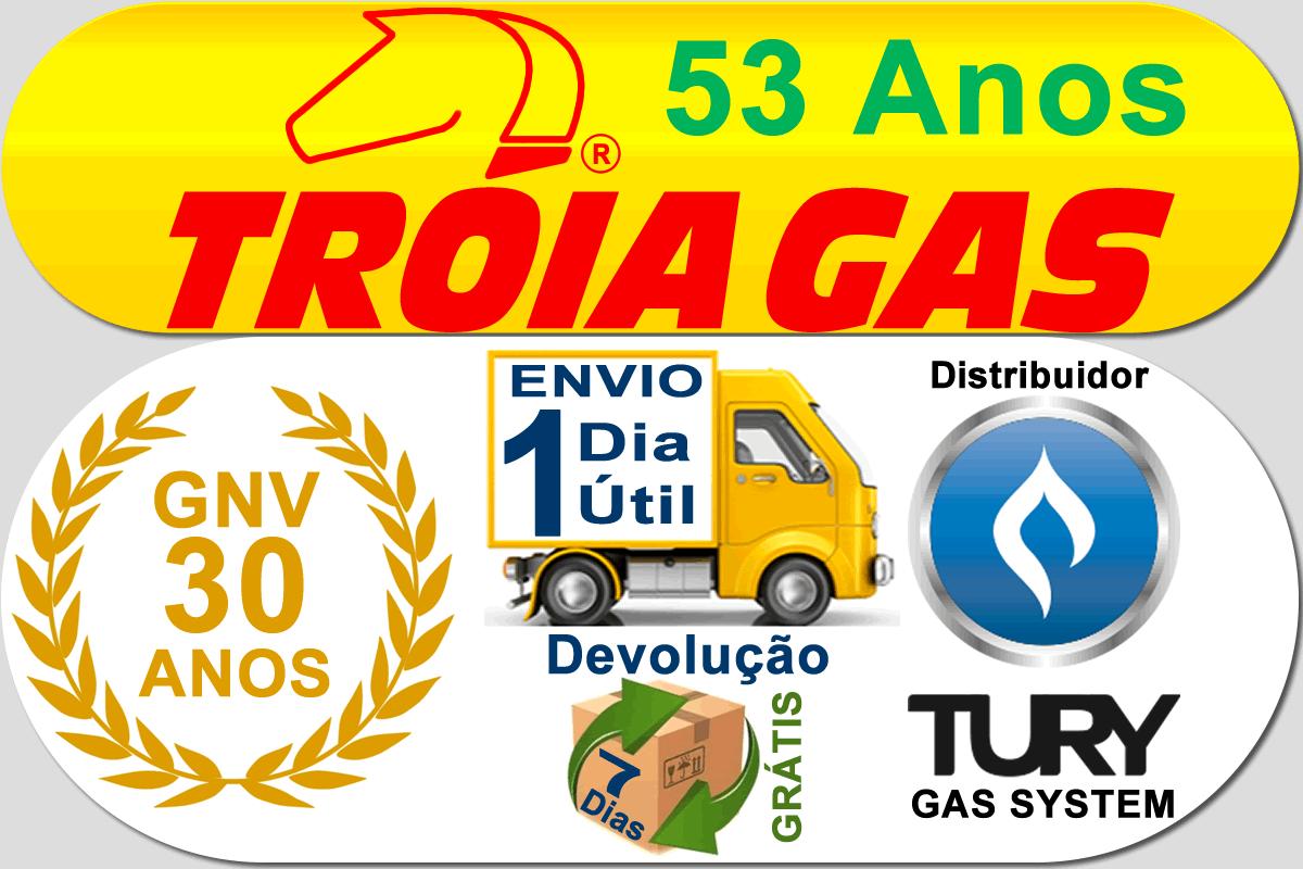 Kit 5ª Geração STAG 4 Qbox Plus TURY GAS