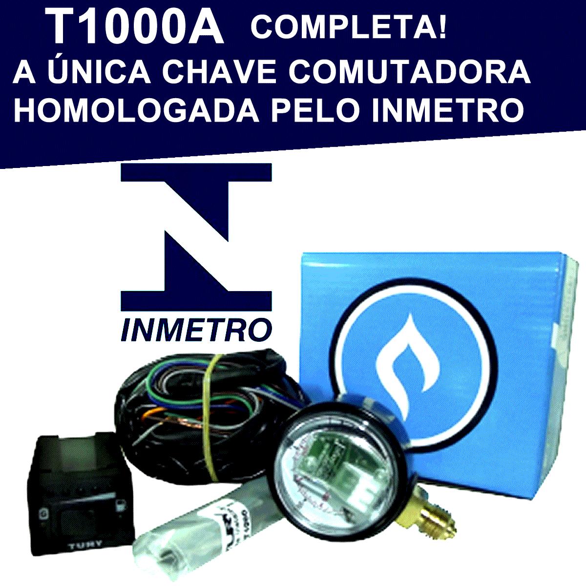 Kit Elétrico Flex TURY GAS T1000 A Chave Manômetro Chicote