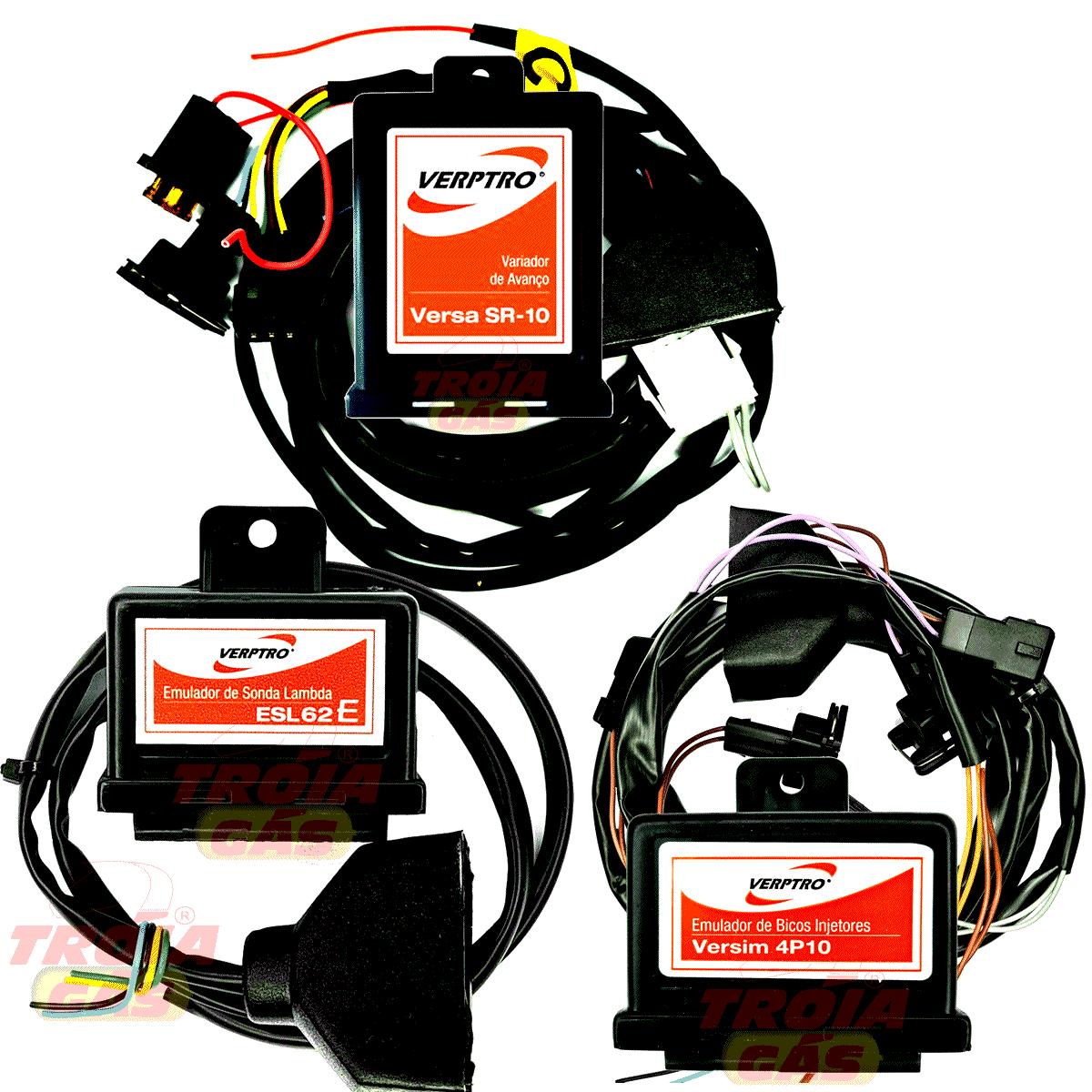 Kit Emulador de 4 Bicos Simulador Sonda Etanol Variador Versim4 ESL62E SR10