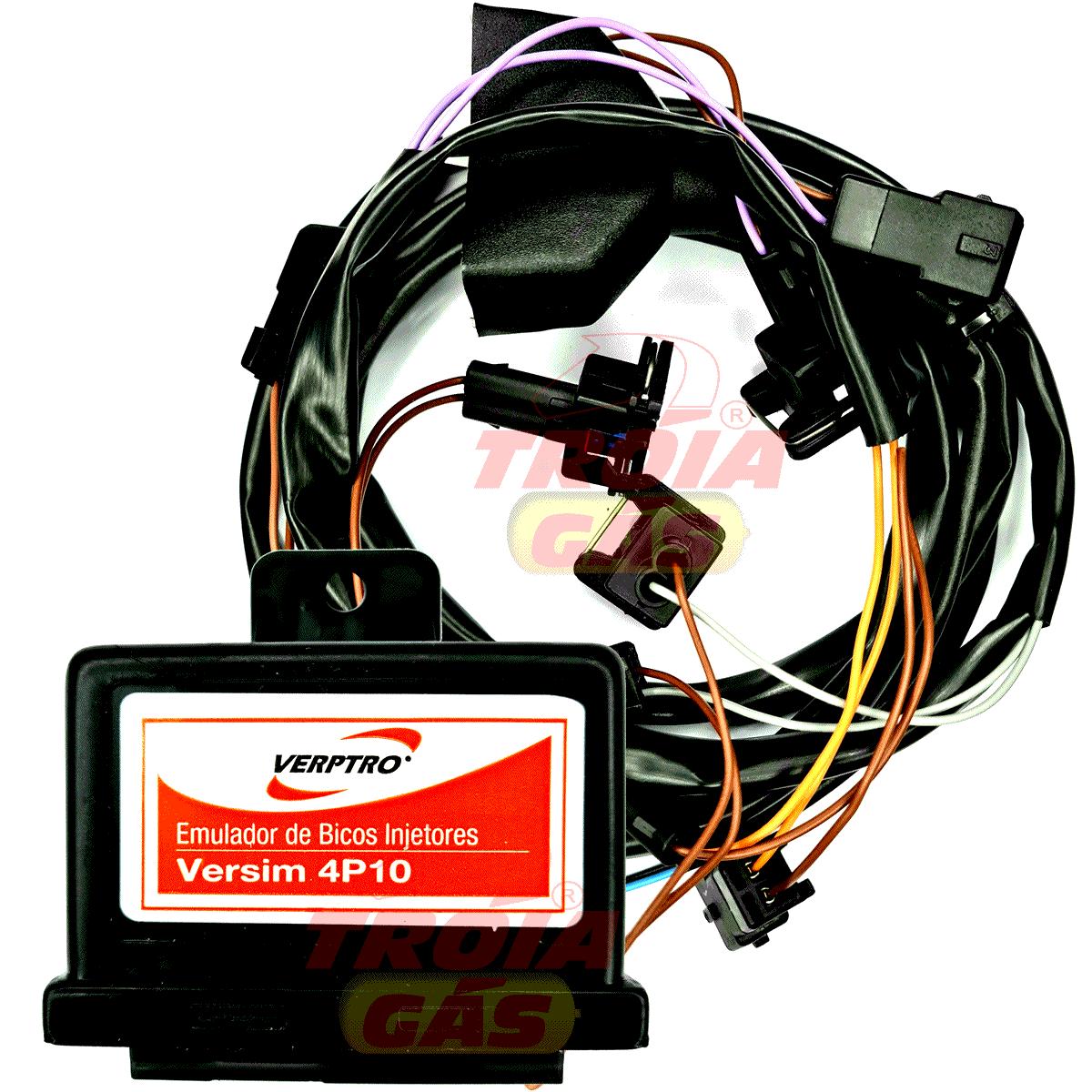 Kit Emulador de 4 Bicos Simulador Sonda Etanol Variador Versim4 ESL62E SR12