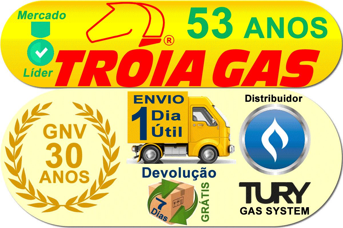 Kit GNV Carburado 2ª Geração Variador TURY GAS Redutor Rodima Ita