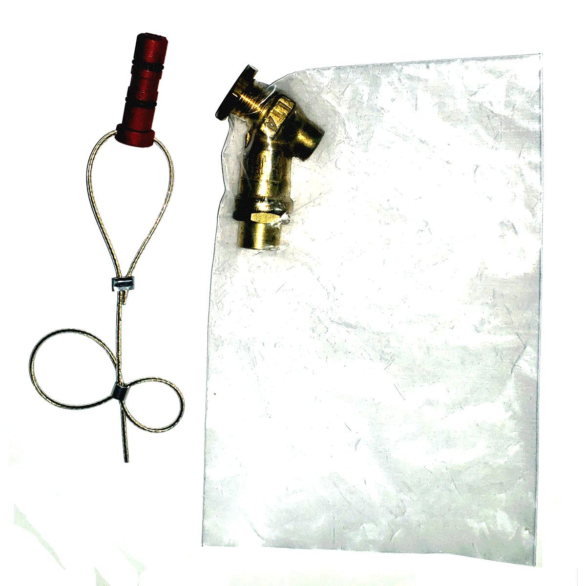 Kit Instalação Válvula Externa ITA Tubo Alta 2 Niples e 2 Anilhas