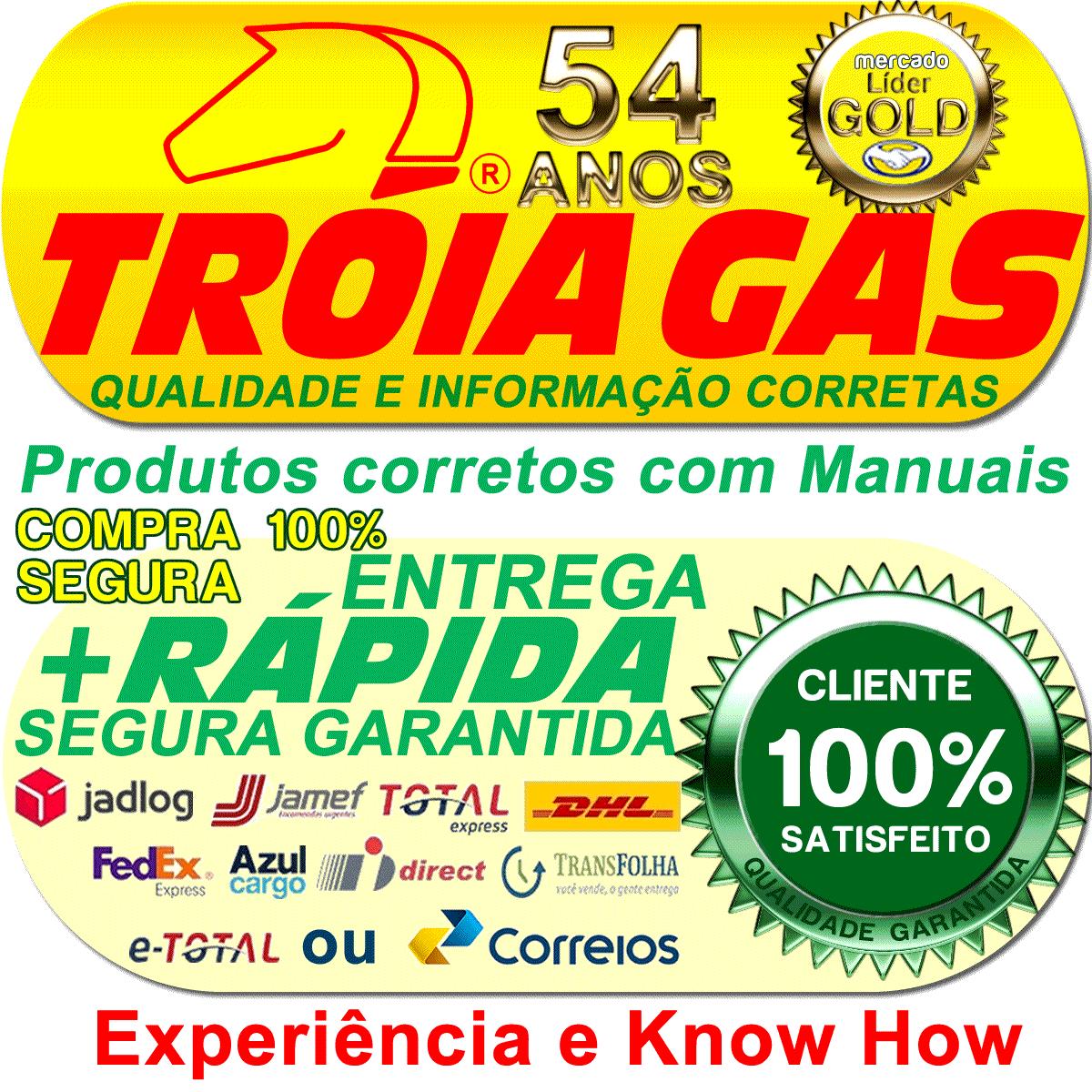Kit Mangueira com Regulagem 2ª e 3ª geração GNV