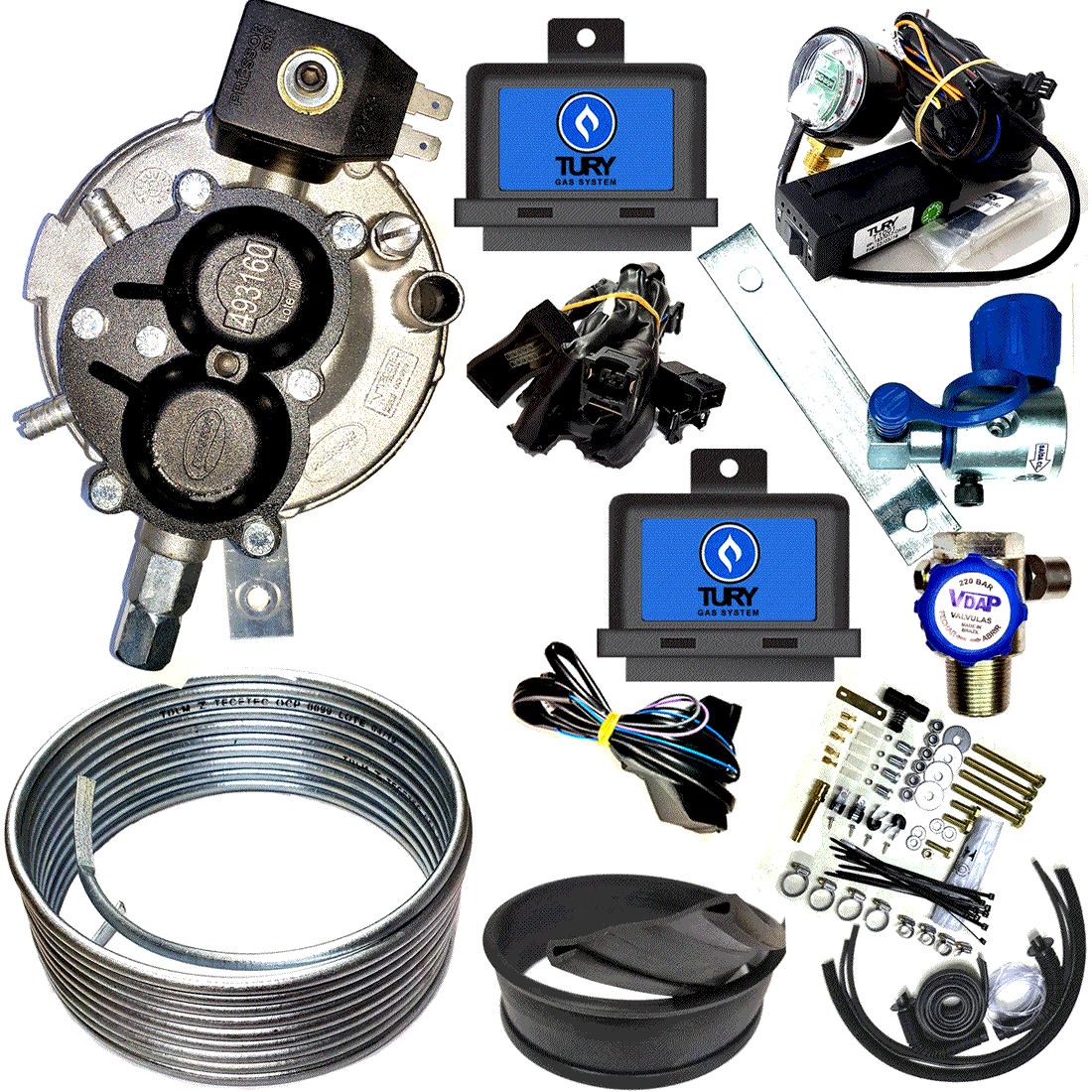 Kit Pressor TURY Flex 3ª Geração Chave Emuladores Minuterias Sem Variador