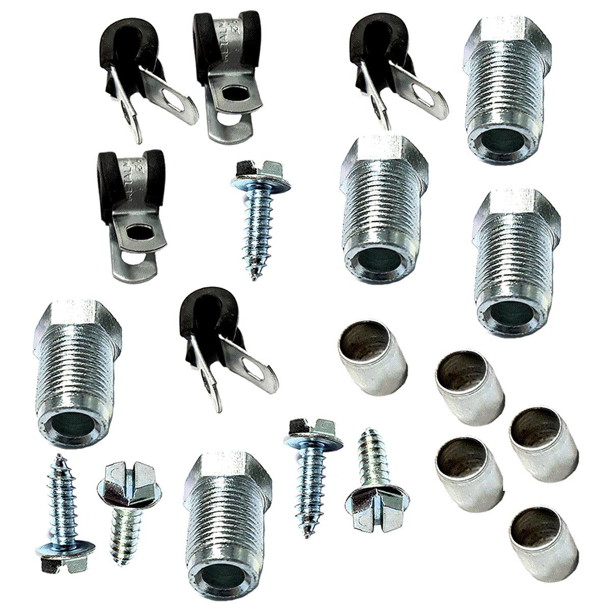 Kit Tubo de Alta GNV Aço R 5 Fixações e Conexões Qualquer Geração