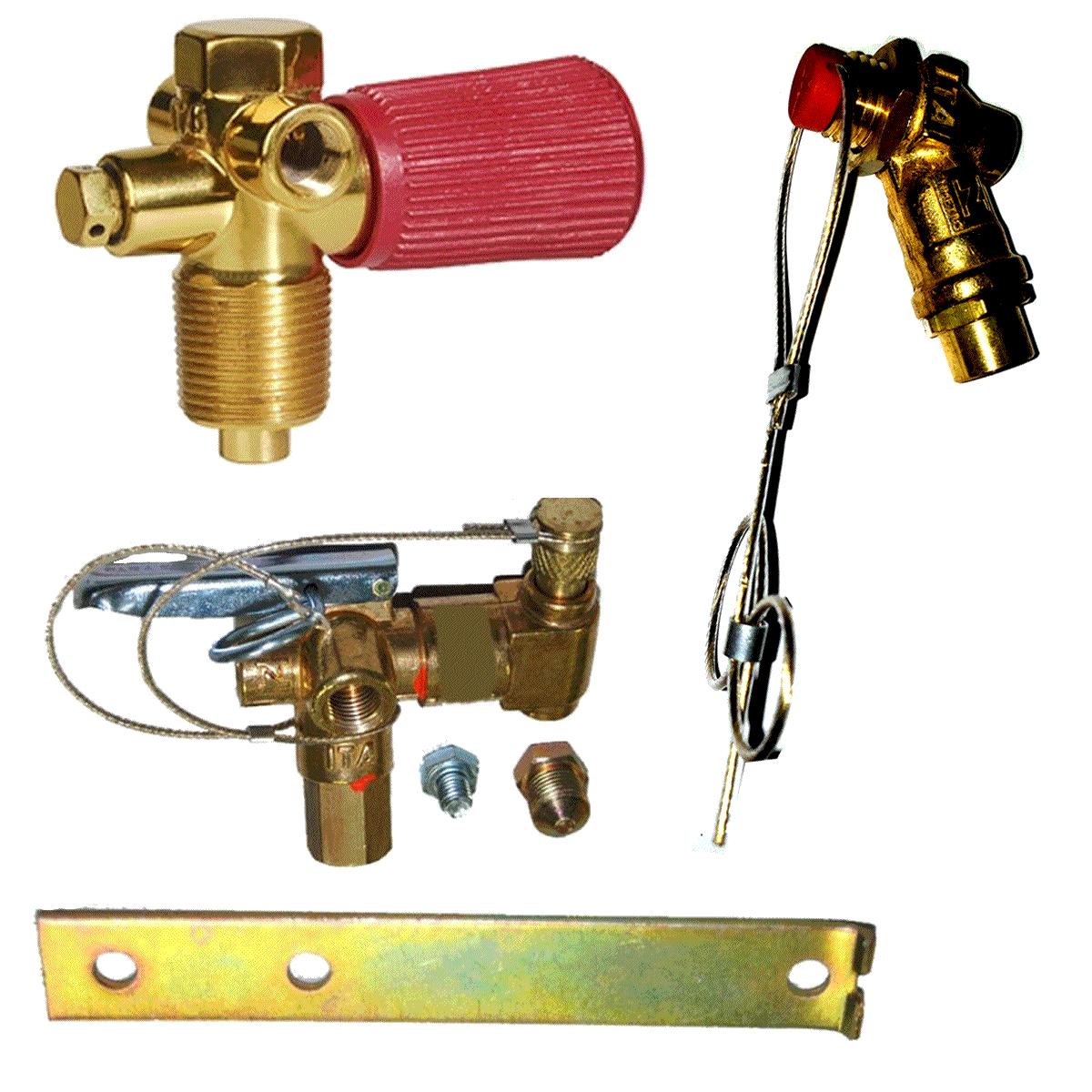 Kit 3 Válvulas GNV ITA Abastecimento Cilindro e Externa