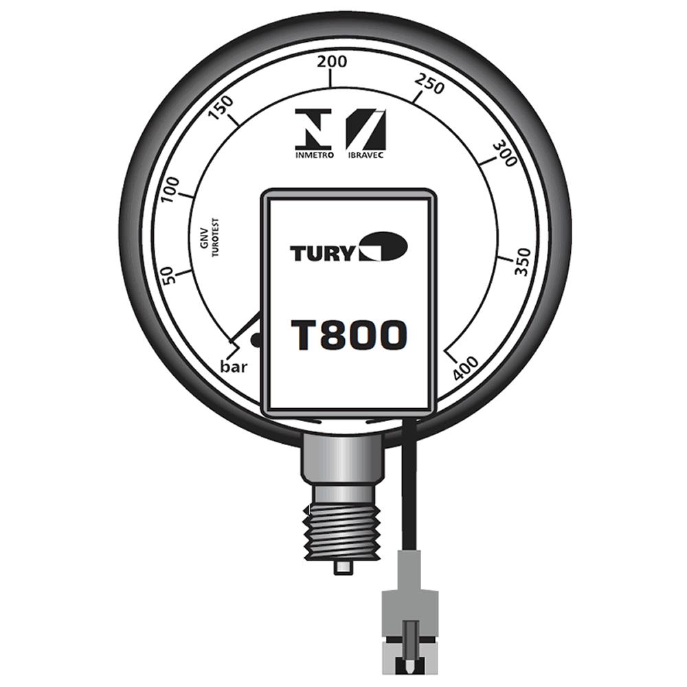 Manômetro T800 para comutadoras Remanufaturado TURY GAS T1000 T1011 T1015 T1200 T3000