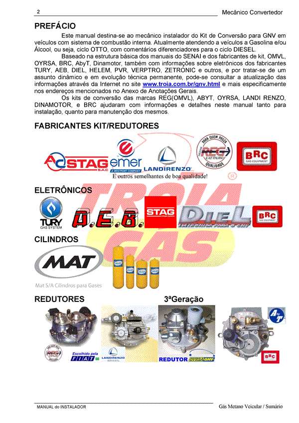 Manual do Instalador e Manutenção GNV 3ª geração