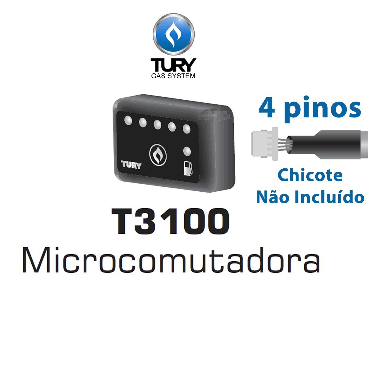 Mini Botão T3100 p/Comutadoras TURY GAS