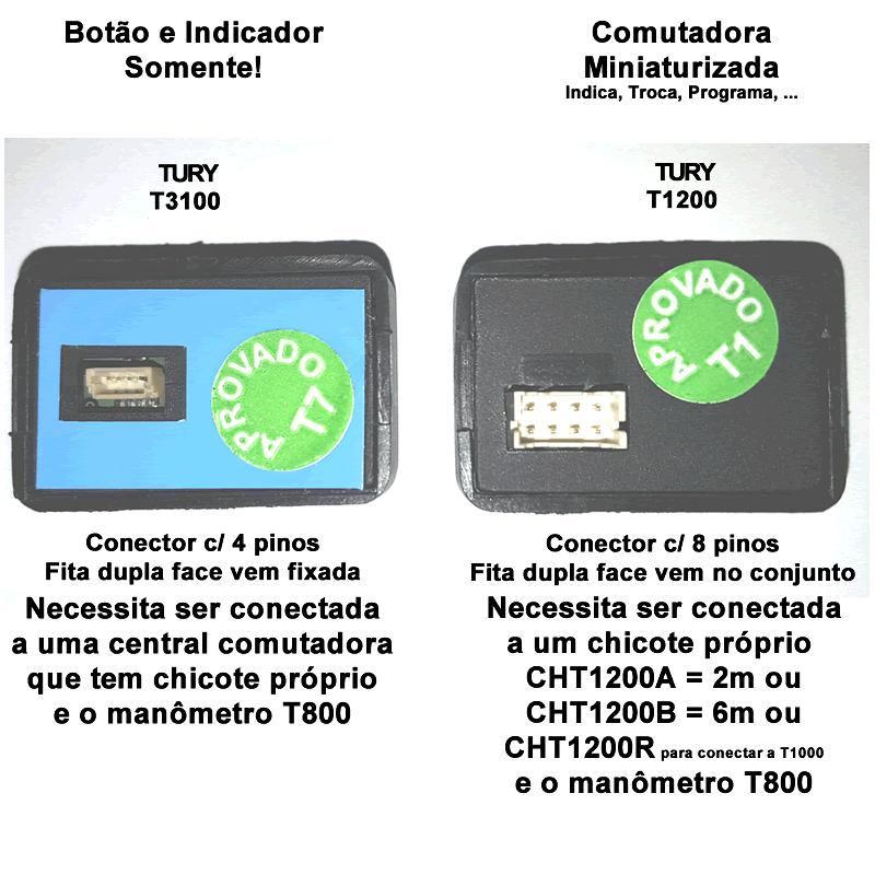 Mini Botão T3100 para Comutadoras TURY GAS 3ª e 4ª geração