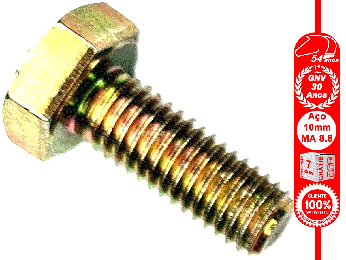 Parafuso Sextavado 10x25 mm 8.8 MA Rosca Inteira