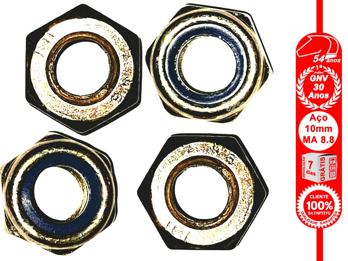 Porca Sextavada 8 mm Auto-travante Nylon MA 8.8 chave 12mm