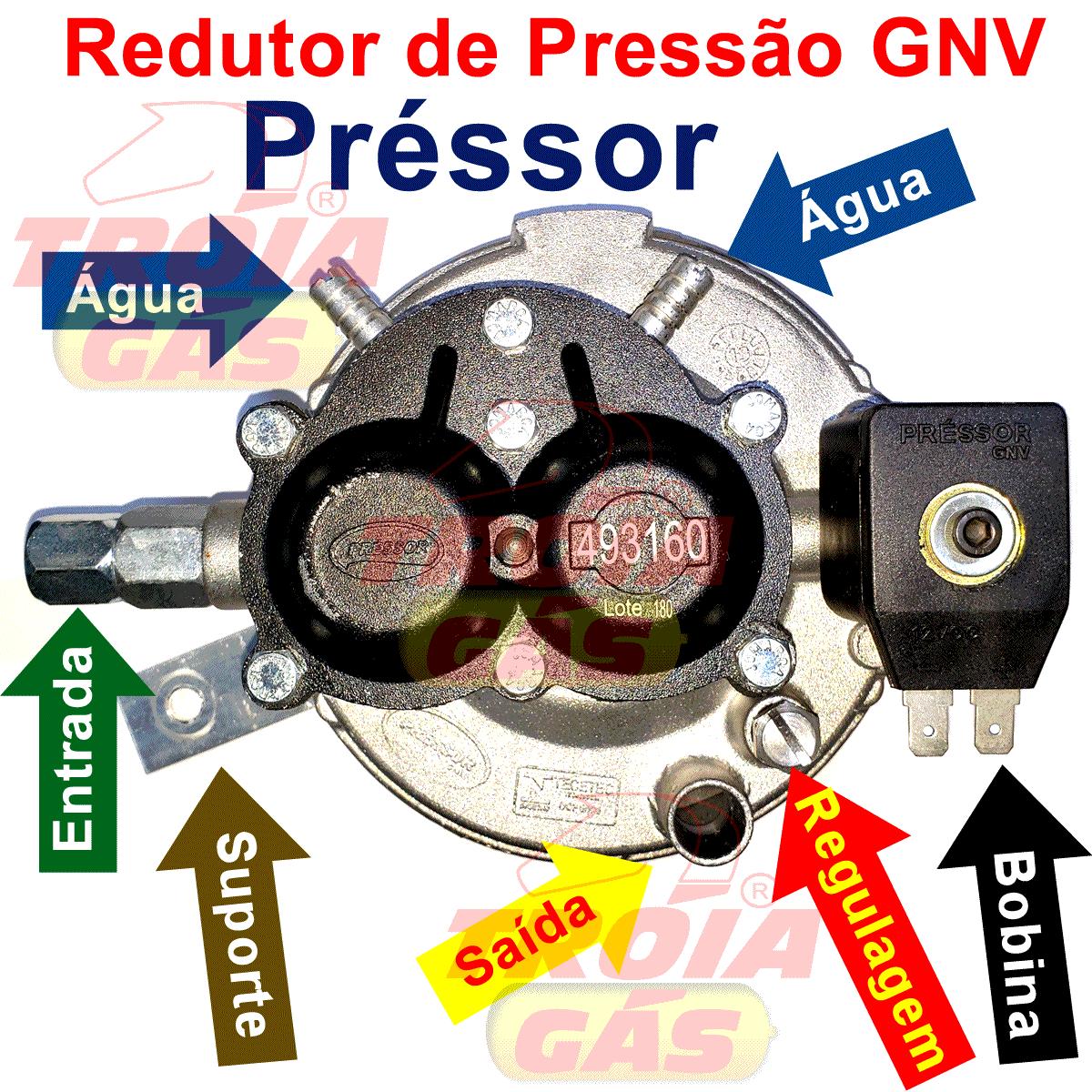 Redutor Préssor GNV até 130 Cv Nacional Garantia