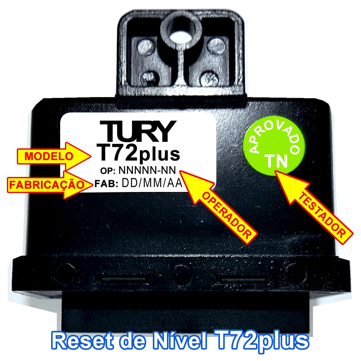 Reset Nível Combustível T72 Plus TURY GAS