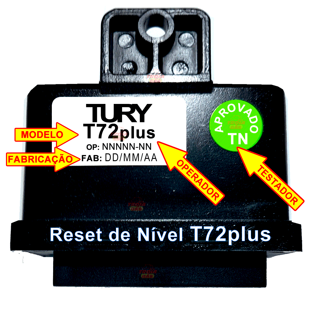 Reset T72 PLUS RETESTADO Nível Combustível TURY GAS
