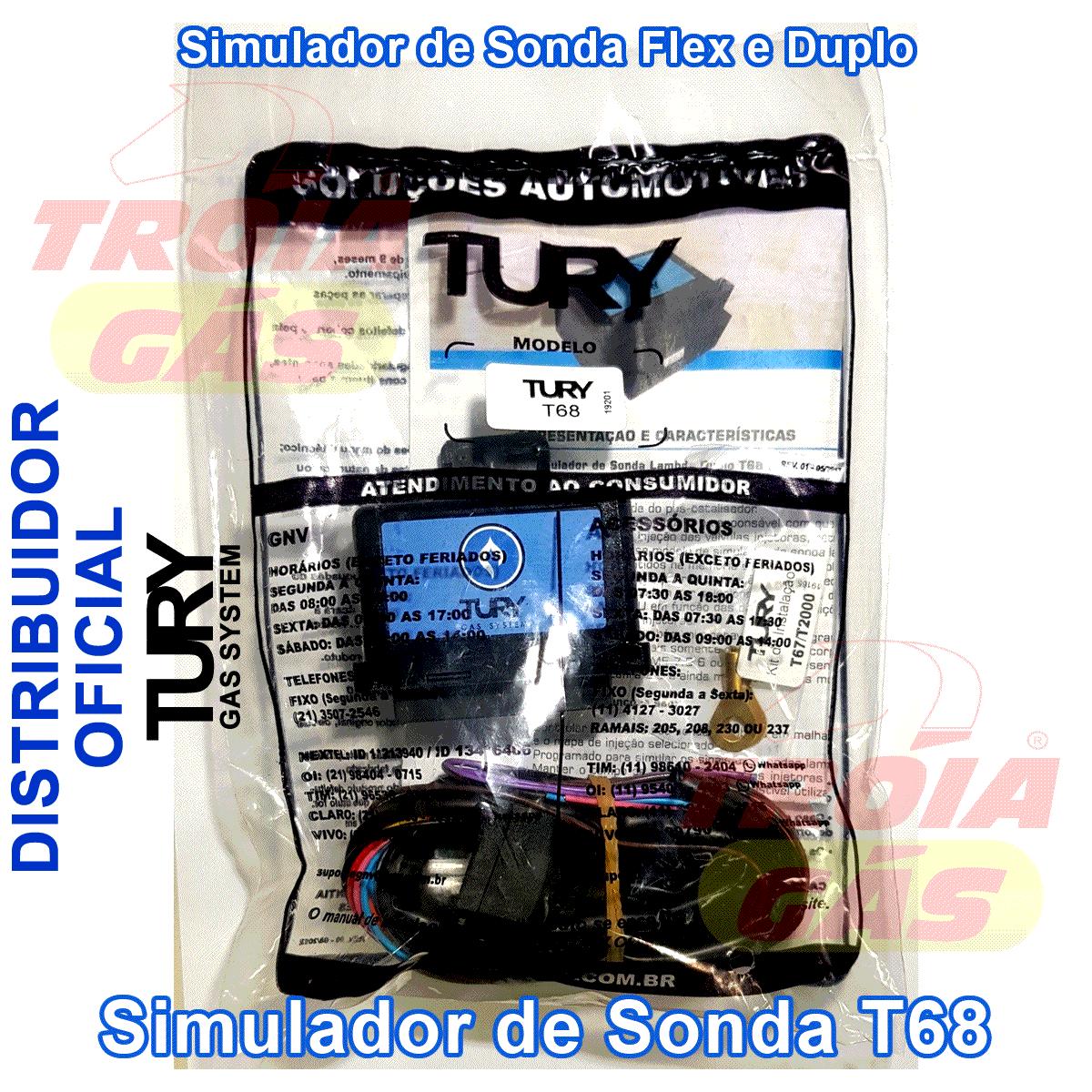 Simulador 2 Sondas Flex GNV TURY GAS T68