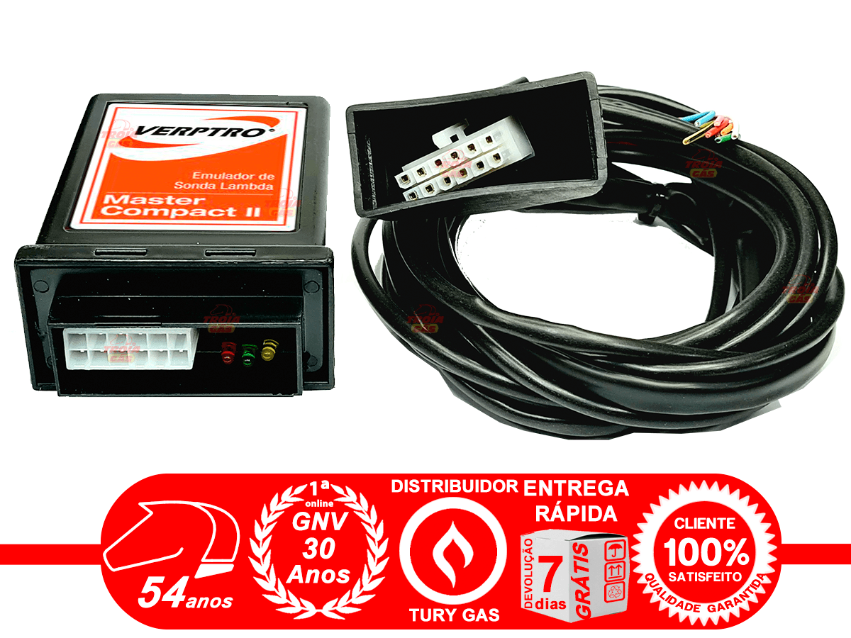Simulador 2 Sondas Flex Master e Emulador de 4 Bicos Verptro Comutadora T1000A Tury