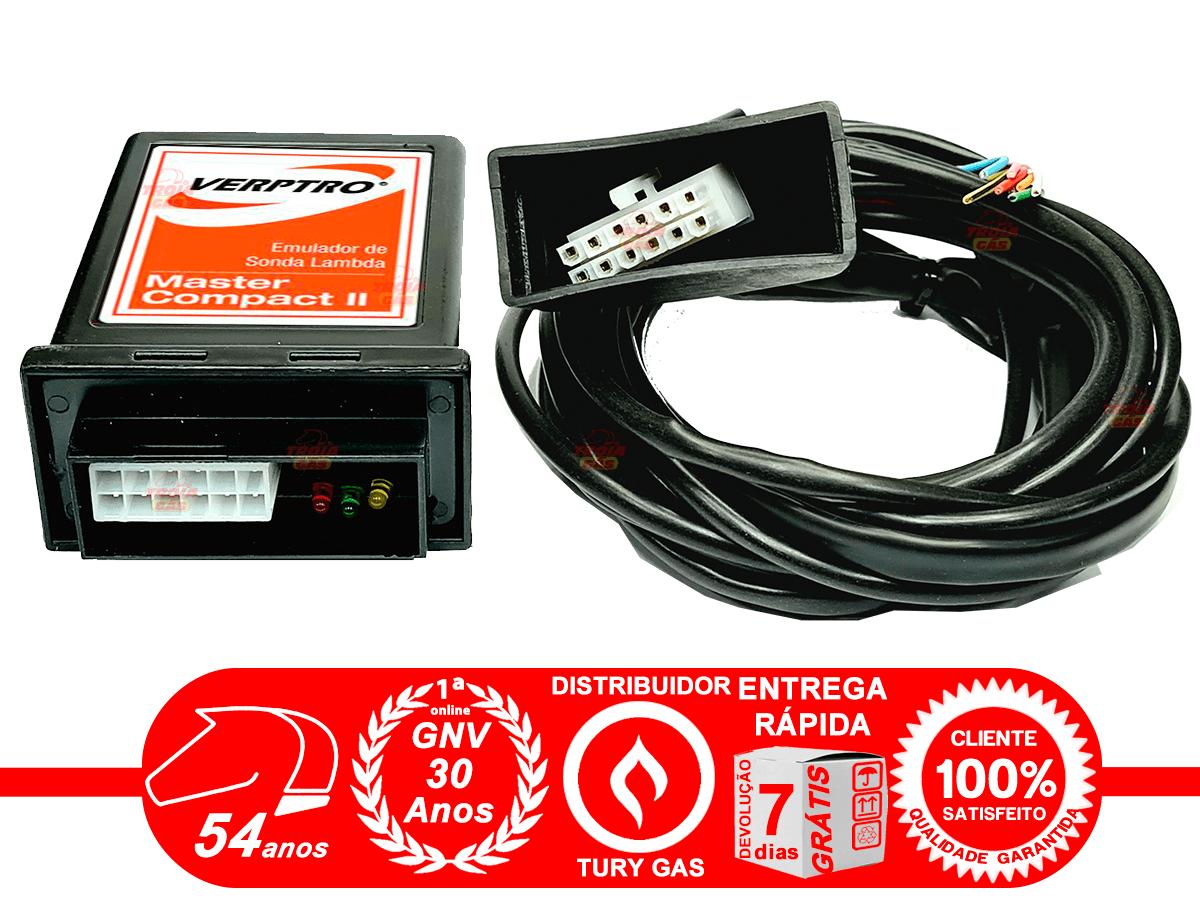 Simulador de 2 Sondas e Flex Verptro Master Compact II e Comutadora T1000A Tury