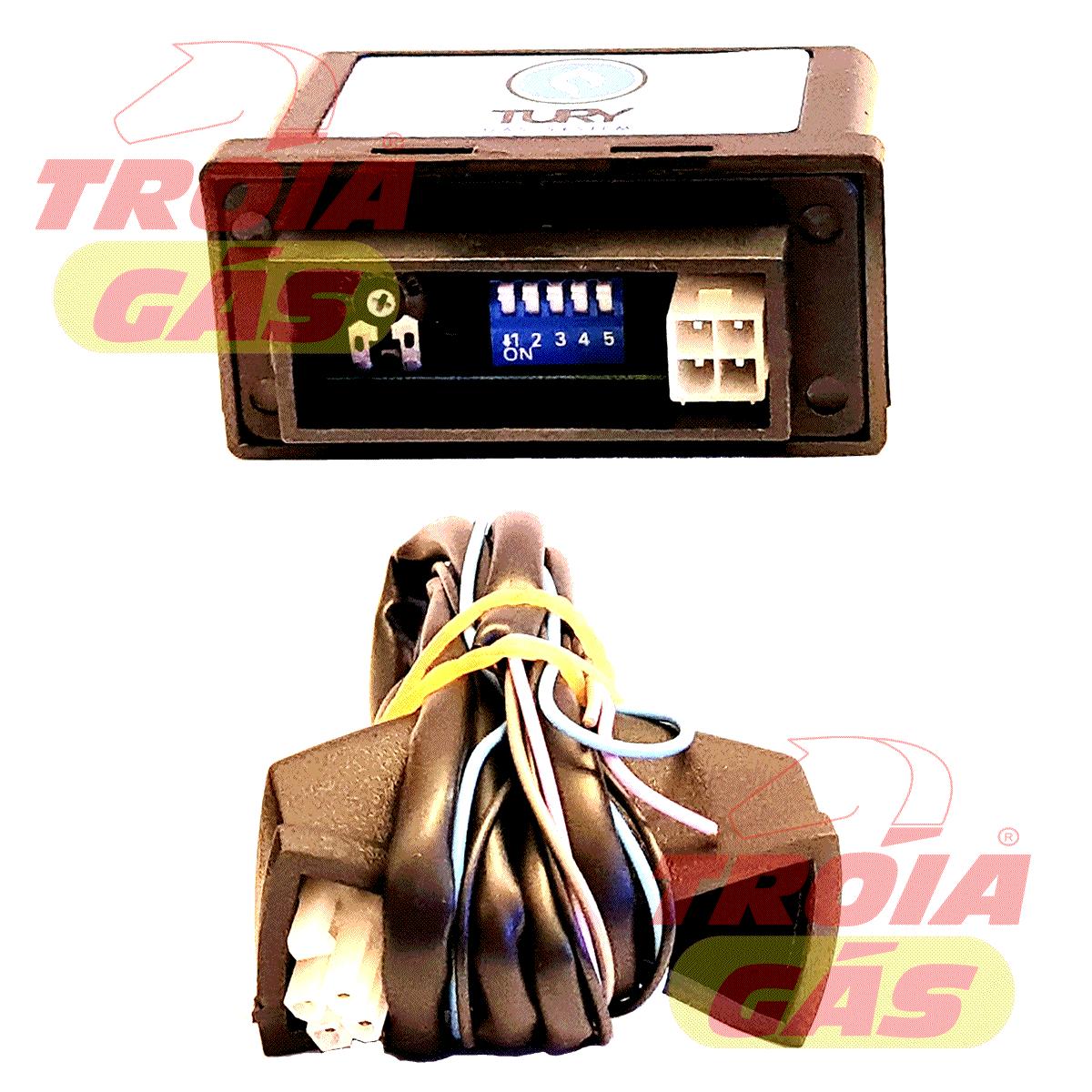 Simulador TURY GAS T634 Novo Sonda Lambda = T63 + T64 +