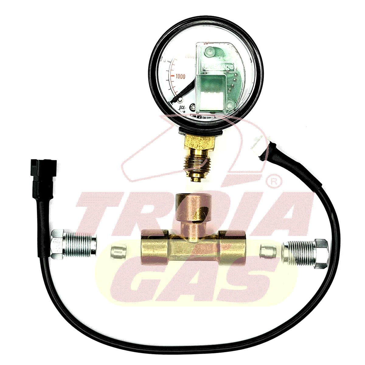 T de Manômetro GNV para Instalar Linha de Alta Pressão