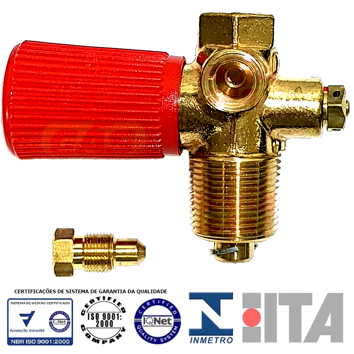 Válvula de Cilindro GNV ITA aprovada pelo INMETRO