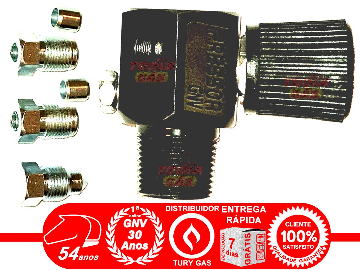 Válvula de Cilindro GNV Préssor Aço Aprovada INMETRO com 2 Niples e Anilhas