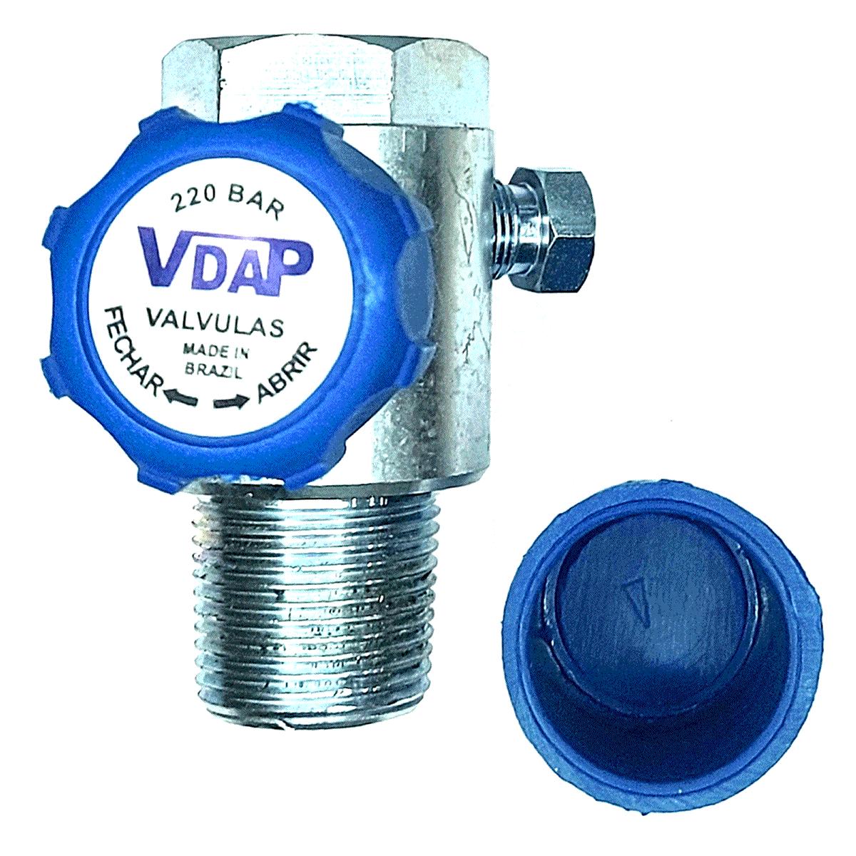 Válvula de Cilindro GNV VDAP Aço Aprovada INMETRO
