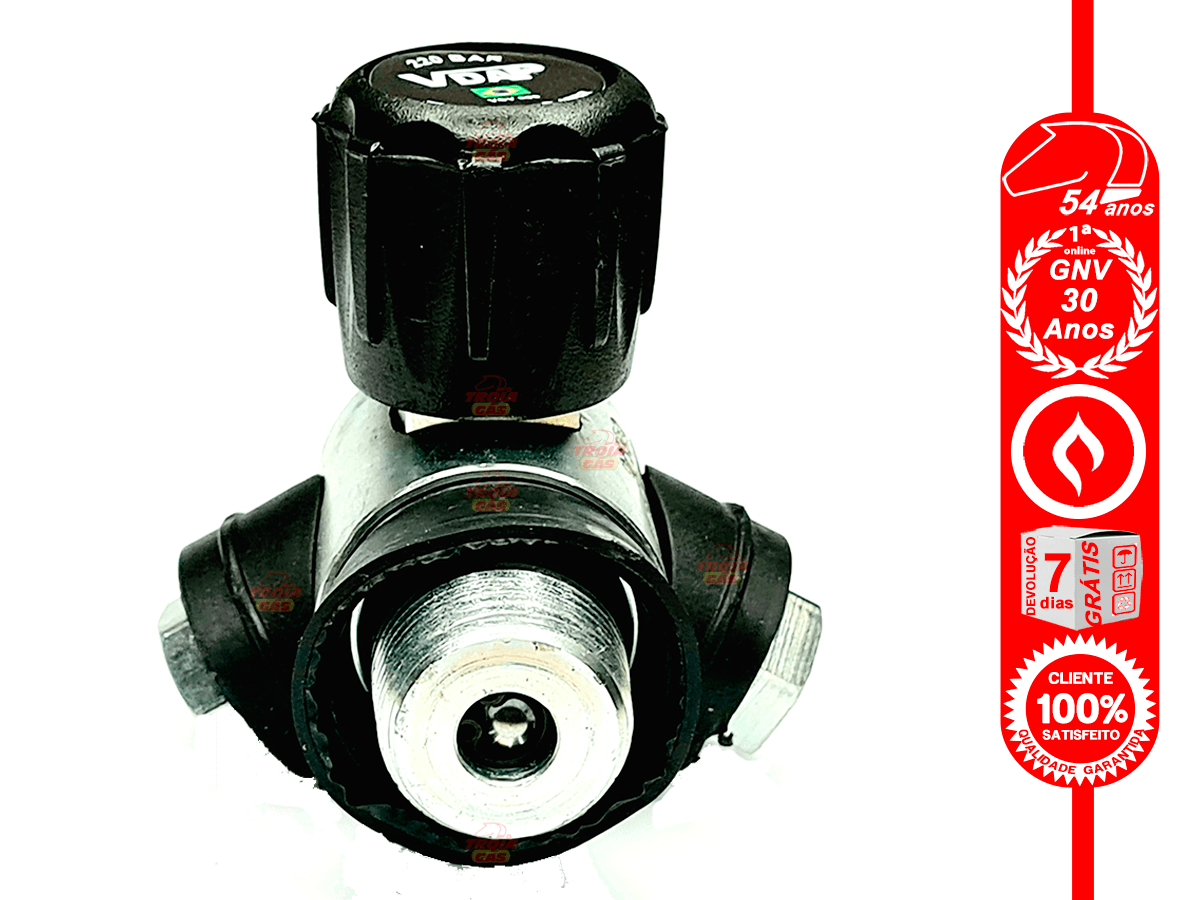 Válvula de Cilindro Sem Pescoço Ventilada GNV VDAP Aprovada INMETRO