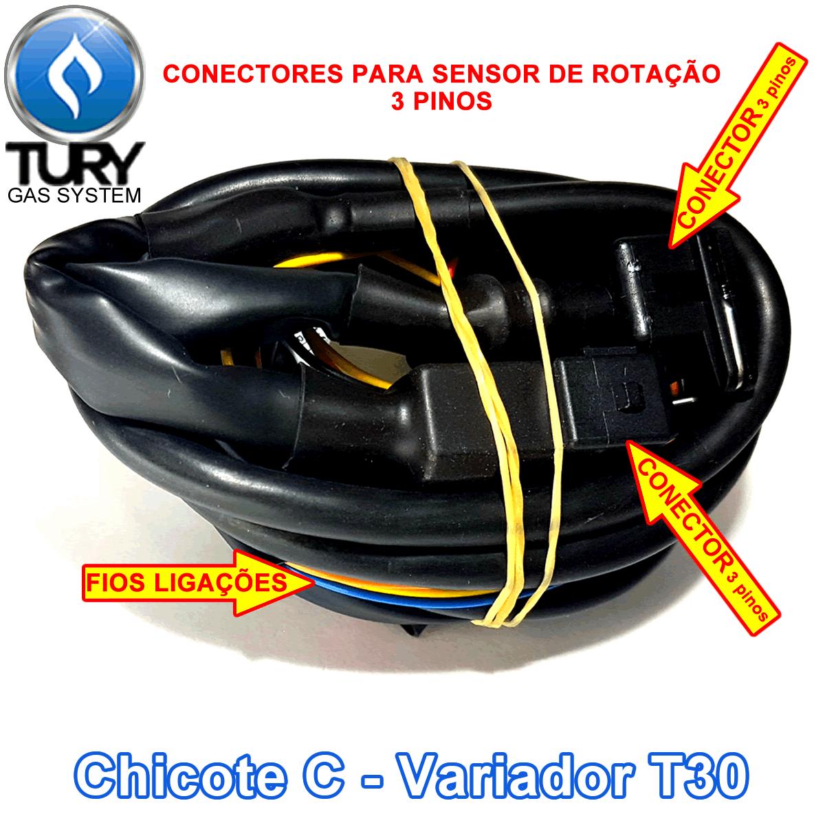 Variador de Avanço T30 Sensor Rotação c/Chicote TURY GAS