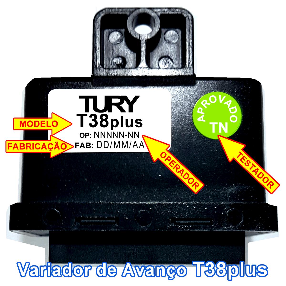 Variador de Avanço T38 Plus TURY GAS MAP/MAF