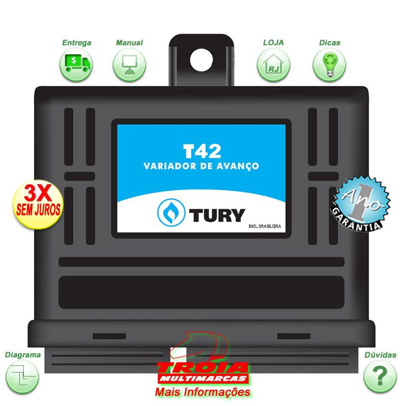 Variador de Avanço T42 TURY GAS para GM