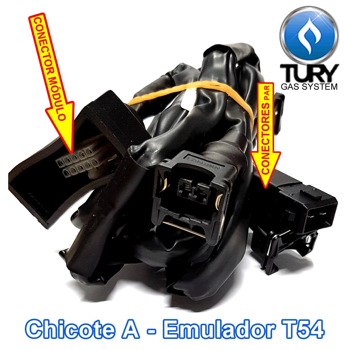 Variador T30 e Emulador de 4 bicos T54 TURY GAS