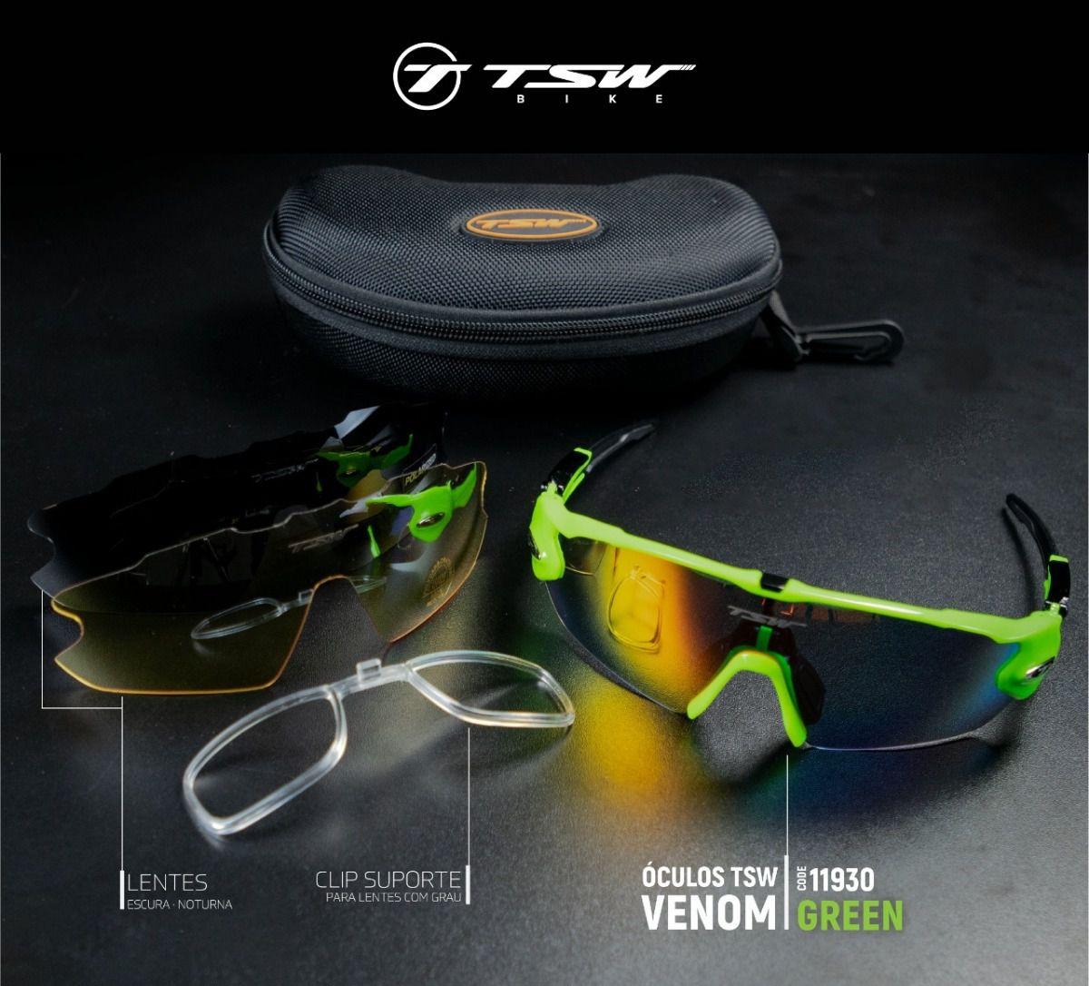 a15dd71ee Óculos De Ciclismo Tsw Venon Mtb 3 Lentes Com Proteção Uv 400 ...