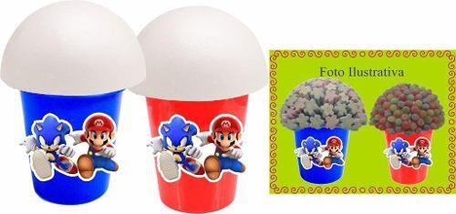 Kit Festa Infantil Sonic X Mario 143 Peças (20 pessoas)