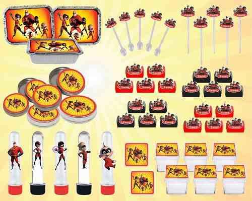 Kit Festa Infantil Os Incríveis 114 Peças (10 pessoas)